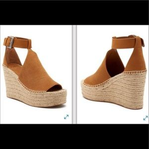 Marc Fisher LTD Annie Perforated Espadrille Wedge